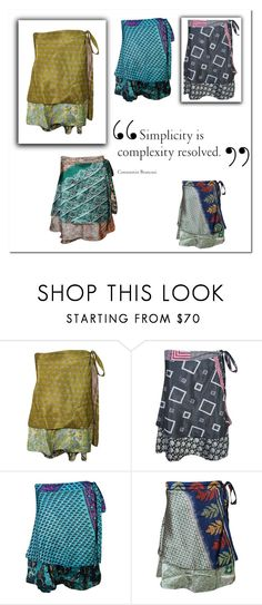 """""""Hippie Beach Cover Up Wrap Skirt"""" by era-chandok ❤ liked on Polyvore featuring vintage"""