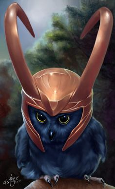 """tumblr pinterest """"Kneel before me. I said, KNEEL!"""" ~Loki.An owl cosplaying as Loki...yeah owls love to cosplay too If like this check out my new ones:    &..."""