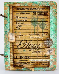 Layers of ink - Textured Vintage Notebook Tutorial by Anna-Karin Evaldsson. With Simon Says Stamp Document It stamp set. Vintage Notebook, Distressed Painting, Artist Trading Cards, Dry Brushing, Simon Says Stamp, Ink Pads, Mixed Media Canvas, My Favorite Part, Mini Books