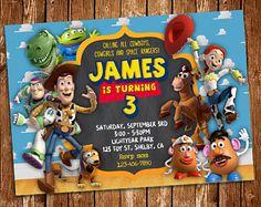 Invitación de Toy Story, Toy Story para imprimir cumpleaños invitación, Buzz Lightyear, Woody, Toy Story parte, Toy Story cumpleaños, archivo Digital