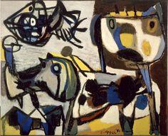 6. Animaux au-dessus du village, 1951Huile sur toile, 130  161 cmMusée d'Art moderne de la Ville de Paris© Karel Appel Foundation / ADAGP, Paris 2017