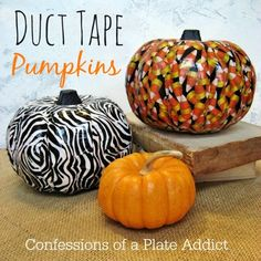 CONFESSIONS OF A PLATE ADDICT Halloween Fun...Easy Duct Tape Pumpkins