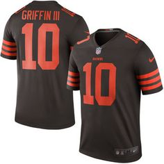 Cleveland Browns #10 Robert Griffin III Brown Color Rush Legend Jersey
