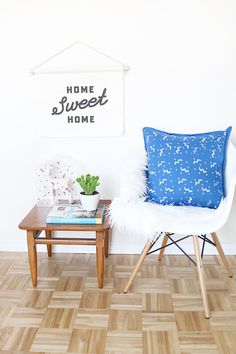 HOME | DIY Stamped Pillow | Hello Lidy