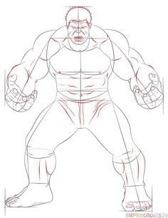 How to draw Hulk | Step by step Drawing tutorials
