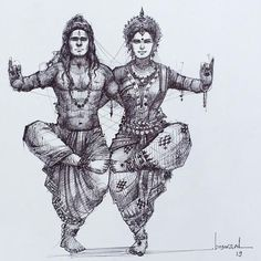 Photo shared by S H ! V on September 2019 tagging Arte Shiva, Shiva Art, Hindu Art, Lord Ganesha Paintings, Lord Shiva Painting, Dance Paintings, Indian Art Paintings, Abstract Paintings, Krishna