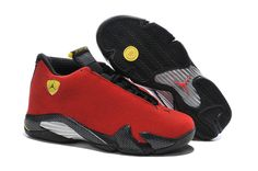 "8c5ec0c74434c7 2016 Air Jordan 14 ""Ferrari"" Chilling Red Black Vibrant Yellow"