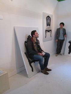Cuadros para sentarse, presentados por el estudio japonés YOY en Salón Satélite 2013, Milán. (Foto: Elizabeth Palacios/Ointeriores)