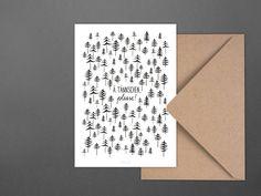 Weihnachten - Weihnachtskarte / Ä Tännschen - ein Designerstück von typealive…