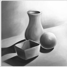 Drawing Unique 8 Mind Blowing Cool Tips: Vases Arrangements Tips glass vases plant.Vases Arrangements Tips paper vases old books.White Vases With Flowers. Shading Drawing, Pencil Shading, Basic Drawing, Drawing Skills, Drawing Lessons, Art Lessons, Value Drawing, 3d Art Drawing, Drawing Faces