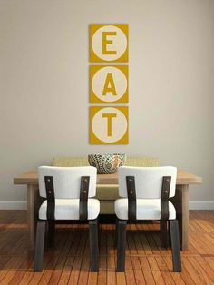 Simple, but I like this.  Could be easily done for most any words or names.    diy wall art  #HomeandGarden