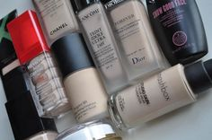 Ten foundations for pale skins by Smashbox, Revlon, Skinleya, Avon, Max Factor, Soap & Glory, Dior, Chanel and Lancome from beaut.ie