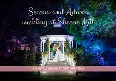 Serena and Jordan's champagne gold and cream wedding at Sheene Mill