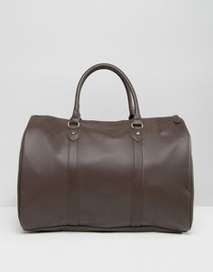 Buy ASOS Smart Holdall In Brown Faux Leather at ASOS. Get the latest trends with ASOS now. University Bag, Asos, Work Bags, Types Of Bag, Elegant, Leather Men, Fashion Online, Latest Trends, Satchel