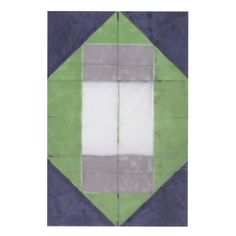 Folded Painting (Pliage), Oil on canvas, 140x90, 1971,  by André-Pierre Arnal, exhibited in the main window of the Galerie de l'Europe in Paris during his feature art exhibition in September 2011 (Supports/Surfaces)
