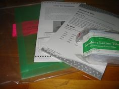 Primary Concepts #1805 Letter Tile Take Home Pack Second Grade reading activities manipulatives LA2
