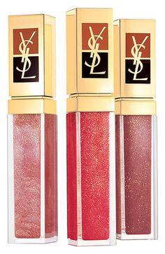 Sparkling 24-karat gold for glamorous lips! Yves Saint Laurent 'Golden Gloss' #LipGloss #Nordstrom #YSL