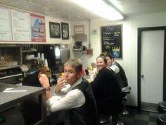Last hamburger at KC for the gang of Byrne and Kelly Acoustic Irish!!! :-)