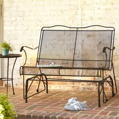 maui outdoor swinging 4 ft outdoor glider bench from hayneedle