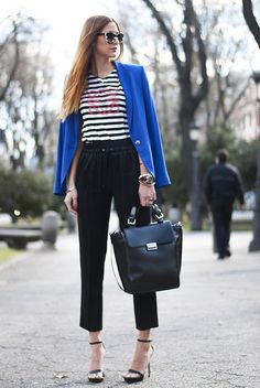 I own a gorgeous blue blazer like this. I live in it all summer long!