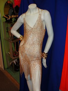 Gold chainmail dress front by vintedgenyc, via Flickr