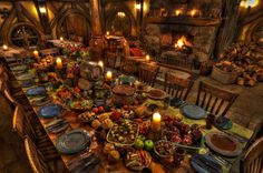 Why not stay for dinner at The Green Dragon with a traditional Hobbit feast. You even get to roam The Shire with lanterns after your meal!