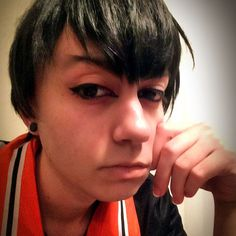 Tested my #kageyama makeup again since I haven't worn him in about a year!  Improve some things I think.  I'll be wearing him on the sports panel Friday afternoon at #nekocon next week.  if you see me please say hi!! #neko #nekocon2015 #neko2015 #kageyamatobio #tobiokageyama #kageyamacosplay #kageyamatobiocosplay #haikyuu #haikyuucosplay #cosplaymakeup  #selfie #selfies