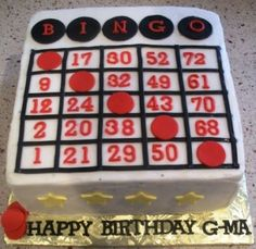 Bingo Cake By missv1973 on CakeCentral.com