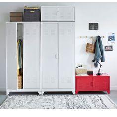 Armoire vestiaire, métal, 2 portes, Hiba http://www.homelisty.com/reduction-la-redoute-interieurs-color-days/
