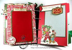 Christmas Mini Albums, Christmas Scrapbook, Christmas Ribbon, Christmas Minis, Retro Christmas, Christmas Crafts, Disney Scrapbook Pages, Scrapbook Page Layouts, Scrapbooking Ideas