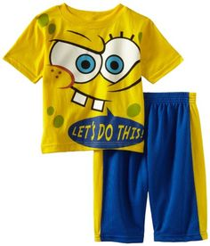 Spongebob Squarepants Boys 2-7 Spongebob Sleeveless Two Piece Short Set, Yellow, 6 coupon| gamesinfomation.com