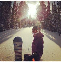 #snowboarding #canada #silverstar #snow #pow #nitro #gopro #sunset #amazing