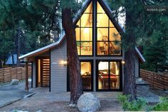 While the Chalet de Celeste is the largest cabin in this list, it's architecturally rockin'. This 2,200 square foot cabin in South Lake Tahoe has been built with natural materials, Italian marble, tumbled river rocks and Brazilian mahogany. There is a luxurious kitchen, a teak dining area and a jetted hot tub on a private deck. It is near Heavenly and can sleep up to eight people for $375 a night.