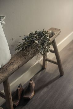oud houten bankje hoffz