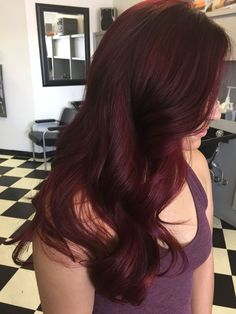 My awesome raspberry hair! Yay RedHair My awesome raspberry hair! Red Ombre Hair, Bright Red Hair, Red Hair Color, Hair Color Balayage, Burgundy Red Hair, Balayage Highlights, Deep Red Hair, Peekaboo Highlights, Purple Highlights