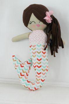 Marina the mermaid plush rag fabric handmade doll by stapleydolls #stapleydolls #mermaid #mermaids #mermaidolls #mermaiddolls #clothdoll #girldoll #plushdoll #handmadedoll #ragdoll #mermaiddoll