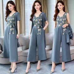5caeeec7c Barato Moda elegante 2 Peças Ternos Verão Mulheres de manga curta blusa  casaco e Conjuntos de