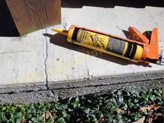 How To Repair A Cracked Concrete Patio Slab With QUIKRETE® Concrete Repair  No. 8620 Sanded Caulk. Install Backer Rod, Caulk The Crack And Finishing.