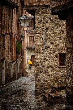 Medieval Rain,  Albarracín  Teruel  Spain