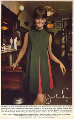 "jonathan logan 1967 We called this a ""Tent"" dress 60s And 70s Fashion, Retro Fashion, Trendy Fashion, Vintage Fashion, Fashion Trends, Fashion Clothes, Fashion Fashion, Winter Fashion, Sporty Fashion"