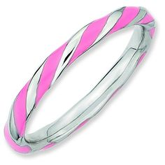 Sterling Silver Stackable Expressions Twisted Pink Enameled Ring Size 5 * Visit the image link more details. Note: It's an affiliate link to Amazon.