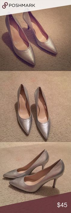 Nine West heels Brand new heels . Silver color . Great for work and for party nights Nine West Shoes Heels