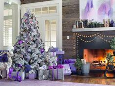 #Decoración #navideña en tonos lilas, violetas y morados