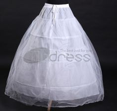 Three times the the two yarn elastic waist Bridal petticoat