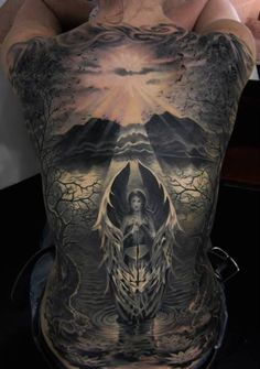 "Can you find the hidden skull in this amazing tattoo? by Piotr ""Deadi"" Dedel"