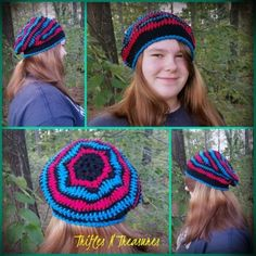 Fun and beautiful hat to make, and to wear! Works up quickly in worsted weight yarn, in 2 or more colors!One size fits preteen-adult.