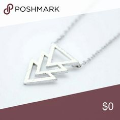 Lady Chevron Dainty Chevron Silver Trend Necklace - Only One Available,  pendant 2.5 by 1.5 cm.   .Ask About Custom Bundles.  .Poshmark Rules Only. No Trades.  .Additional Pics Available as Time Allows. goodchic  Jewelry Necklaces