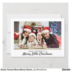 Rustic Tartan Photo Merry Christmas Typography Holiday Card Christmas Photo Cards, Christmas Quotes, Christmas Greetings, Holiday Cards, Tartan Christmas, Merry Little Christmas, Merry Christmas Typography, Rustic Blue, Lettering