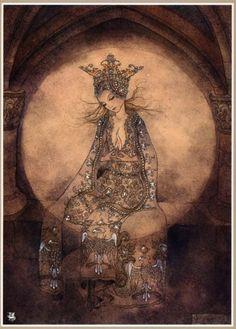 SurLaLune Fairy Tales: Illustrations of Little Red Riding Hood Art And Illustration, Illustrations, Inspiration Art, Fairytale Art, Wow Art, Moon Goddess, Stars And Moon, Beautiful Paintings, Faeries