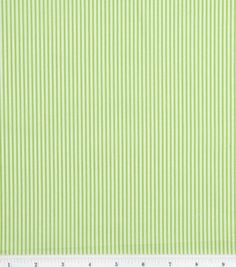 Lisette Collection Fabric- Green Stripes Poplin & Fashion Collections at Joann.com